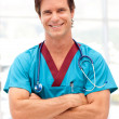 Portrait of a doctor with stethoscope — Stock Photo