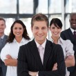 Happy business team looking at the camera — Stock Photo #10822053