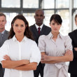 Portrait of diverse business looking at the camera — Stock Photo #10822107