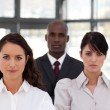 Portrait of multi-ethnic business looking at the camera — Stock Photo