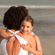 Ortrait of a smiling Daughter Hugging her mother — Stock Photo