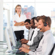 Mature manager leading her representative team — Stock Photo