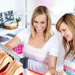 Two Caucasian women are doing shopping — Stock Photo