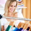 Blond woman is doing shopping — Stock Photo