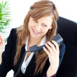 Confident businesswoman on phone - Stock Photo