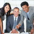 Business working together in a project — Stock Photo #10825042