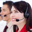 Stock Photo: Young customer service agents call center