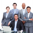 Portrait of a charismatic multi-ethnic business — Stock Photo