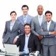 Portrait of a charismatic multi-ethnic business — Stock Photo #10825355
