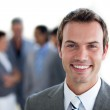 Focus on a young manager — Stock Photo
