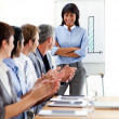 International business clapping a good presentation — Stock Photo #10825401