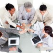 Prosperous business team celebrating a success - Stock Photo