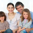 Portrait of a happy family — Stockfoto