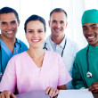 Portrait of a successful medical team at work — Stock Photo