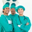 Smiling team of surgeon — Stock Photo #10826025