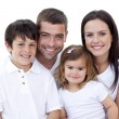 Portrait of happy family smiling — Stock Photo