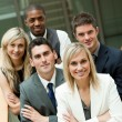 Businesspeople with a blond woman in the middle — Stock Photo #10826484