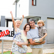 Family buying a house — Stock Photo #10826534