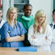 Portrait if an international medical team — Stock Photo