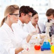 Science students in a laboratory - Foto de Stock  