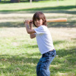 Royalty-Free Stock Photo: Portrait of adorable child playing baseball