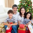 Family Christmas portrait — Stock Photo #10827042