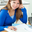 Young attrative girl studying — Stock Photo