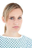 Portrait of an unhappy patient — Stock Photo