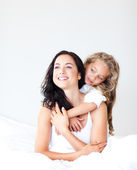 Blissful young mother with her little daughter — Stock Photo