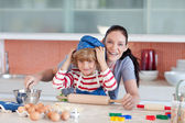 Boy having fun with his mother — Stock Photo