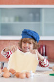 Positive little boy with a daugh — Stockfoto