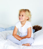Adorable little girl with her brother — Stock Photo