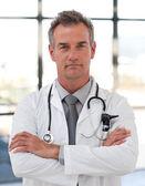 Serious senior doctor — Stock Photo