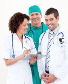 Team of confident doctors — Stock Photo