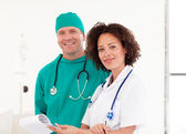 Portrait of doctor and surgeon together — Foto Stock