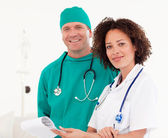Portrait of doctor and surgeon — Stock Photo