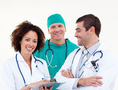 Young happy team of doctors — Stock Photo