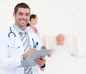 Confident chief physician in a hospital — Stock Photo