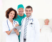 Doctors working together in a hospital — Stock Photo