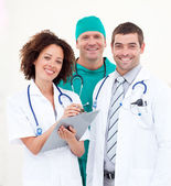 Portrait of successful medical team — Stock Photo