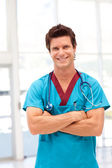 Potrait of a young doctor smilling at camera — Foto de Stock