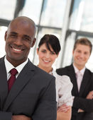 Portrait of a business team looking at the camera — Stock Photo