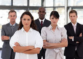 Portrait of diverse business looking at the camera — Stock Photo