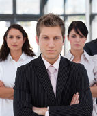 Portrait of a professional business team looking at the camera — Stock Photo