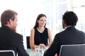 Business colleagues talking together — Stock Photo