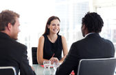 Diverse Business colleagues talking together — Stock Photo