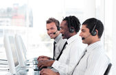 Confident sale representative partners at work — Stock Photo