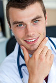 Portrait of a cheerful male doctor — Stock Photo