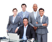 Portrait of a charismatic multi-ethnic business — Foto Stock