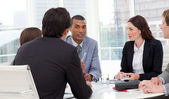 Ambitious business group having a meeting — Stock Photo